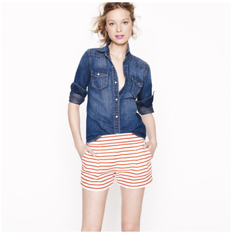J. Crew Nautical Stripe Short
